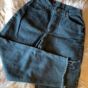 Lee Jeans- Vintage, high waisted, faded black
